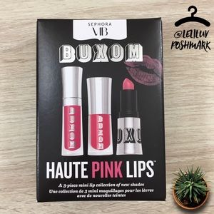 BUXOM • Haute Pink Lips 3-piece Sephora VIB set